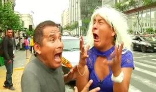 Jhony y Bibi enseñan cómo liberar el estrés del tráfico y caos  vehicular