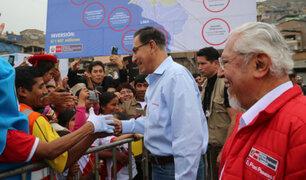 Chorrillos: Presidente Vizcarra anuncia obras de agua potable para AA.HH.