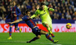 Fútbol internacional: Barza golea 5 a 0 a Levante