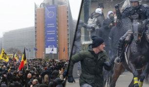 Bélgica: se registran protestas con disturbios contra el Pacto Mundial de Migración