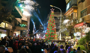 Siria: el espíritu navideño se apoderó de las calles de Damasco