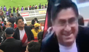 Fiscal mostró imágenes de César Hinostroza Pariachi en los partidos de la Bicolor