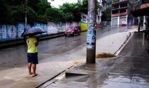 Chanchamayo: intensas lluvias bloquean tránsito en Selva Central