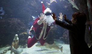 ¡Ya se vive la Navidad! México, Japón y Francia muestran a Papá Noel en acción