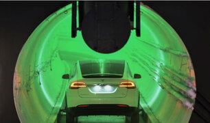 Elon Musk presenta túnel subterráneo de transporte para que carros circulen a 240 kilómetros por hora