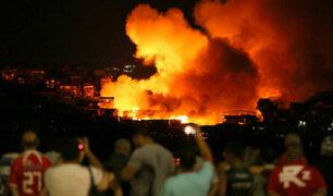 Brasil: devastador incendio consumió 600 casas en Manaos