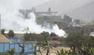 Huachipa: se registra incendio en taller clandestino de pirotécnicos
