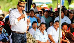 Ministro Huerta: Compromiso de las FFAA es pacificar zona del Vraem