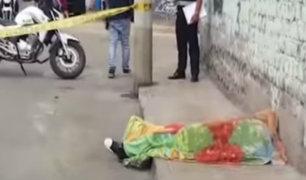 Rímac: identifican cadáver de mujer abandonado en plena calle