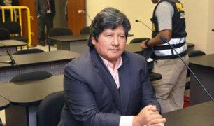 Edwin Oviedo: PJ evaluó pedido de apelación contra prisión preventiva