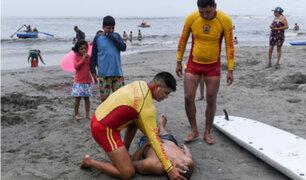 Policía de salvataje inicia temporada de verano en playas de la Costa Verde