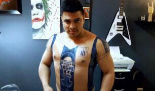 Hincha se tatuó camiseta de Alianza Lima
