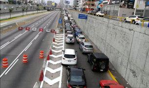 Sorpresivo cierre de la Vía Expresa provocó caos vehicular