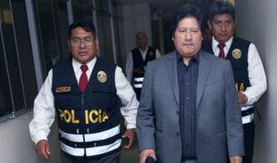 Poder Judicial rechazó prisión preventiva contra Edwin Oviedo por caso 'Los Cuellos Blancos'