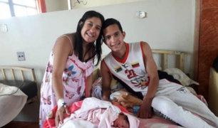 Arequipa: venezolana alumbró a la primera bebé de Navidad