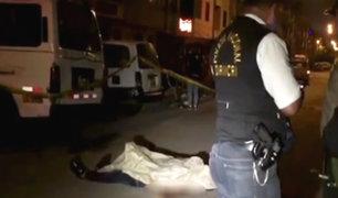 Cercado de Lima: sujeto es asesinado a balazos en aparente ajuste de cuentas