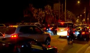 Chorrillos: taxis y colectivos generan caos vehícular en la Costa Verde