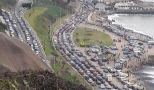 Desorden vehicular se generó horas después de Navidad en pistas de la Costa Verde