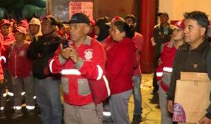 Callao: trabajadores de limpieza inician huelga por falta de pagos