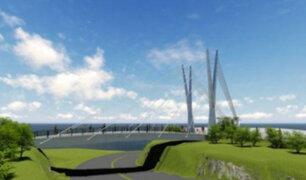 Alcalde Muñoz coloca primera piedra a puente que conectará Miraflores y San Isidro