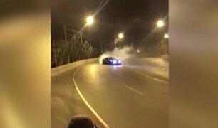 La Molina: conductor realiza peligrosas maniobras en cerro Centinela