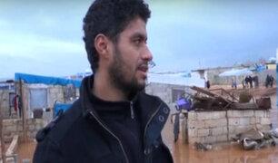 Siria: inundación azota campo de refugiados