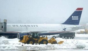Tormenta invernal en Estados Unidos deja dos muertos y más de mil vuelos cancelados