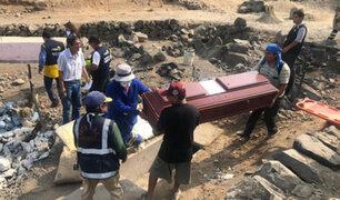 Comas: inician demolición del mausoleo terrorista