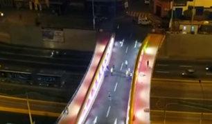 """Miraflores y Surquillo: Castañeda entregó nuevo puente """"Leoncio Prado"""""""