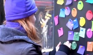 EEUU: miles se reúnen en el Time Square para dejar sus buenos deseos para 2019