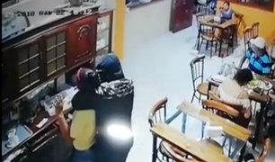Huacho: delincuentes asaltaron a restaurante y a sus comensales