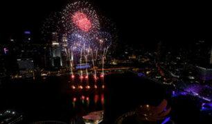 Con fuegos artificiales y música: así celebra el mundo la llegada del nuevo año 2019