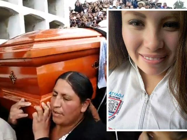 Entierran restos de Marisol Estela Alva en cementerio de Bambamarca