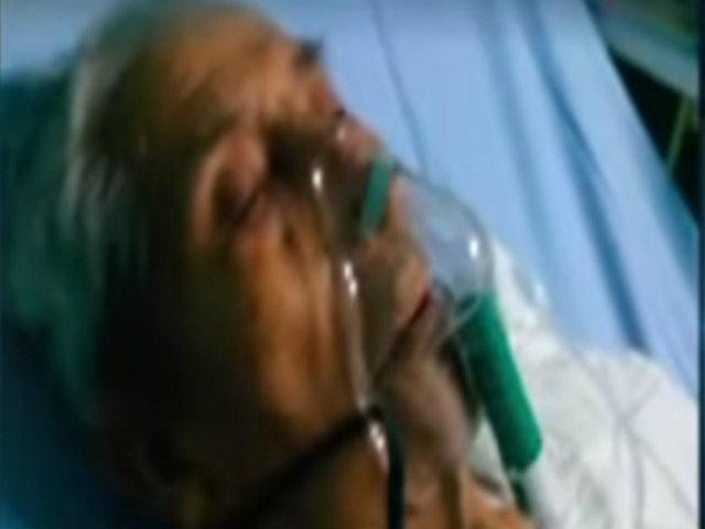 Piden ayuda para anciano que perdió pierna tras ser atropellado por camión