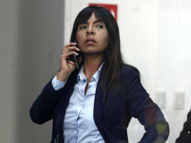 """Giulliana Loza: """"La intención de la Fiscalía es que no me mantenga en la defensa de Keiko Fujimori"""""""