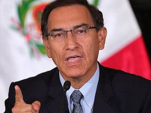 Presidente Martín Vizcarra envió saludo a los peruanos por Navidad