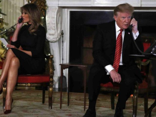 """La pregunta de Donald Trump a niña de 7 años: """"¿Todavía crees en Santa Claus?"""""""