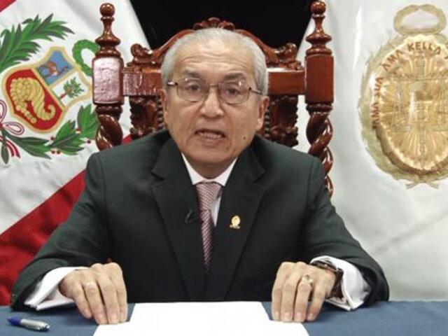 Fiscal de la Nación anunció que presentará su renuncia al cargo