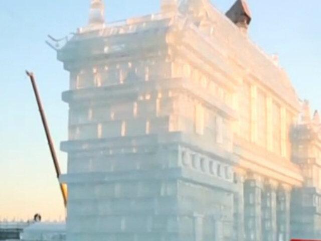 China: ciudad de hielo presenta las esculturas más grandes del mundo
