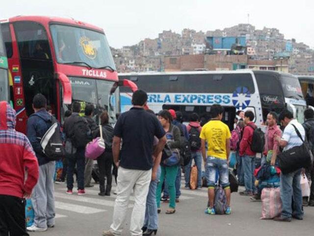 Terminal de Yerbateros: precios de pasajes a Huancayo se duplican por cierre de la Carretera Central