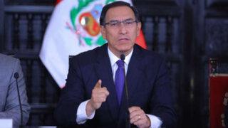 Presidente Vizcarra: Consejo de Ministros aprobó proyecto que declara en emergencia la Fiscalía