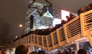 Rusia: caída de puente dejó varios heridos en Año Nuevo