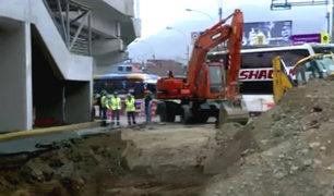 SJL: realizan trabajos de reparación del forado cerca a estación del Metro