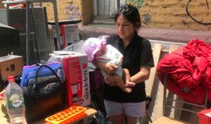 Cerca a 30 familias, entre ellos peruanos, fueron desalojados de un inmueble en Chile