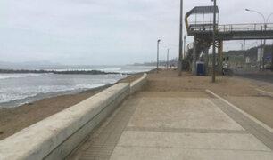 Bañistas en riesgo por obras inconclusas en la Costa Verde