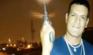 SMP: cantante de rap causa temor a los vecinos por el uso de armas