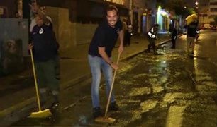La Victoria: alcalde George Forsyth y empresarios limpian las calles de Gamarra