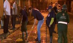 George Forsyth inició su gestión con jornada de limpieza en La Victoria