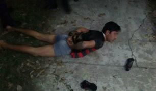 Iquitos: vecinos capturan, golpean y desnudan a ladrón