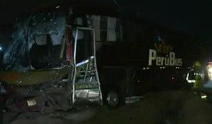 Panamericana Sur: cinco integrantes de familia mueren tras chocar contra bus interprovincial